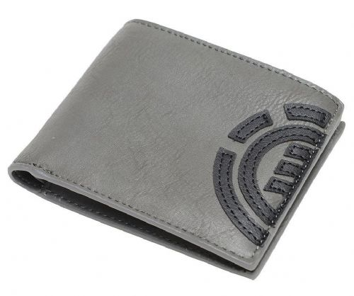 ELEMENT MENS WALLET.NEW DAILY GREY FAUX LEATHER CREDIT CARD MONEY PURSE 8W 4 118